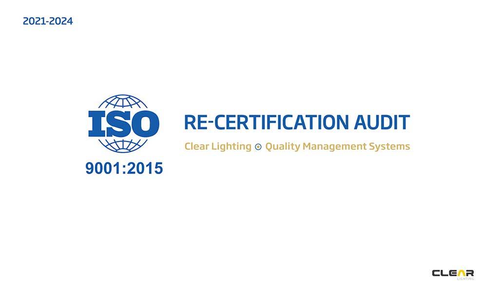 ISO9001: 2015 Recertification Audit